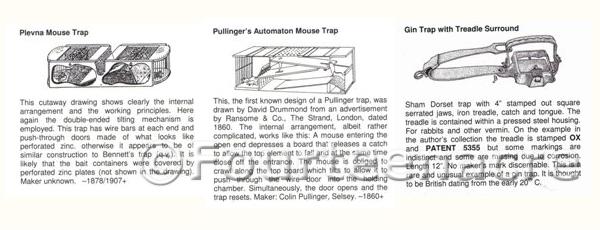 British Traps for Mammals - Insert