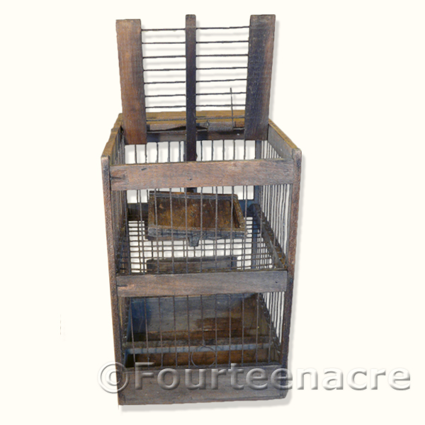 Finch Trap Cage http://www.vintagetraps.co.uk/shop/vintage-finch-trap/