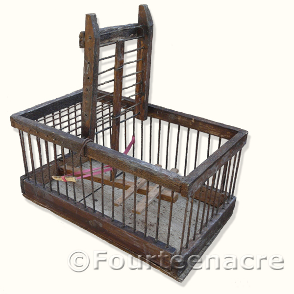 Finch Trap Cage http://www.vintagetraps.co.uk/shop/vintage-single-cage-bird-trap/
