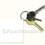 Blank Square Key Ring