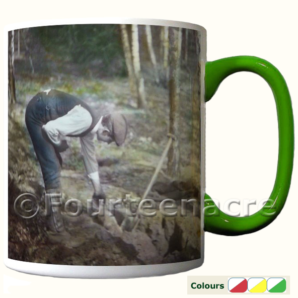 Rabbitting two tone mug