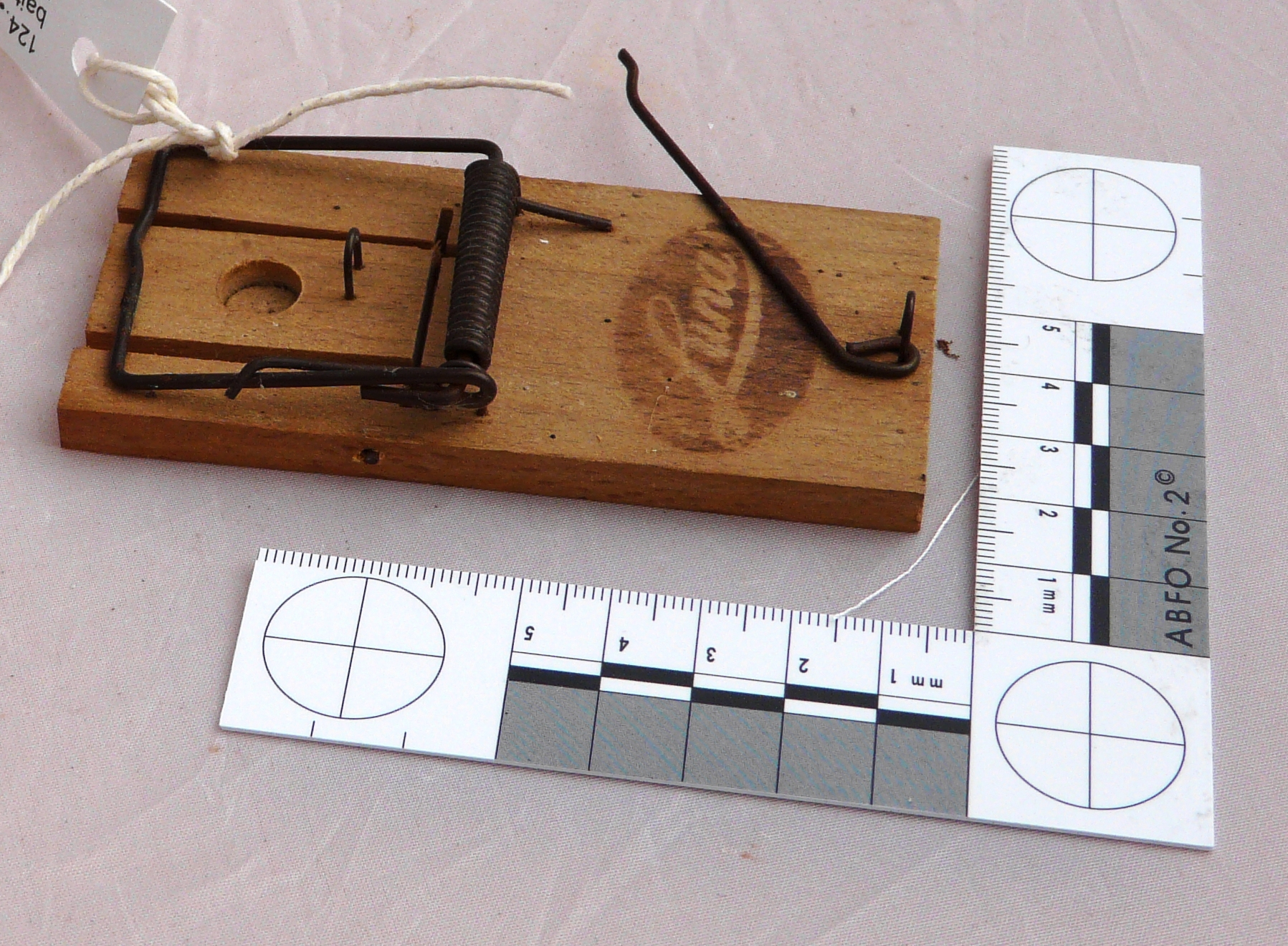 'LUNA' mouse trap with beechwood base and bait holder