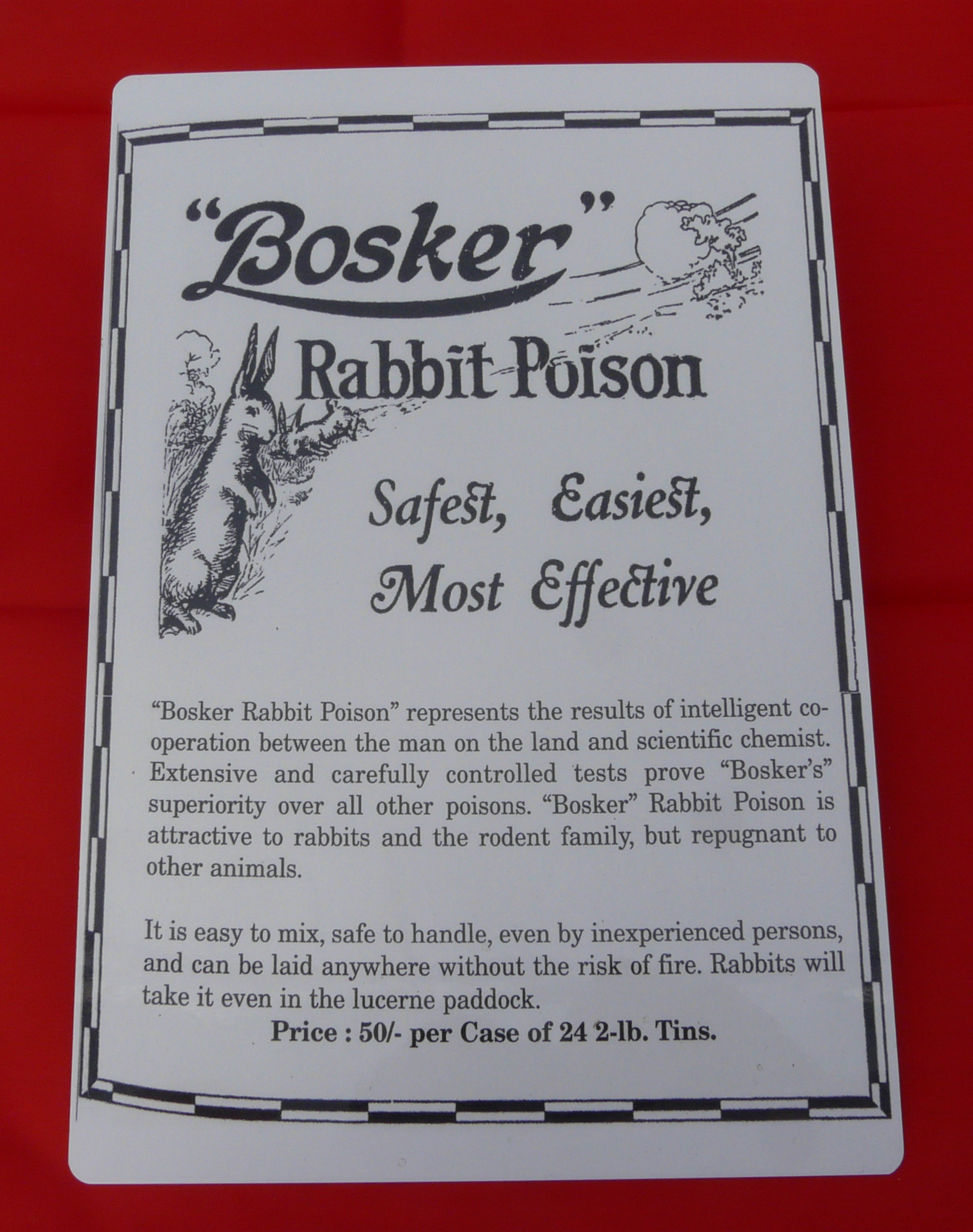 7005 Bosker Rabbit Poison