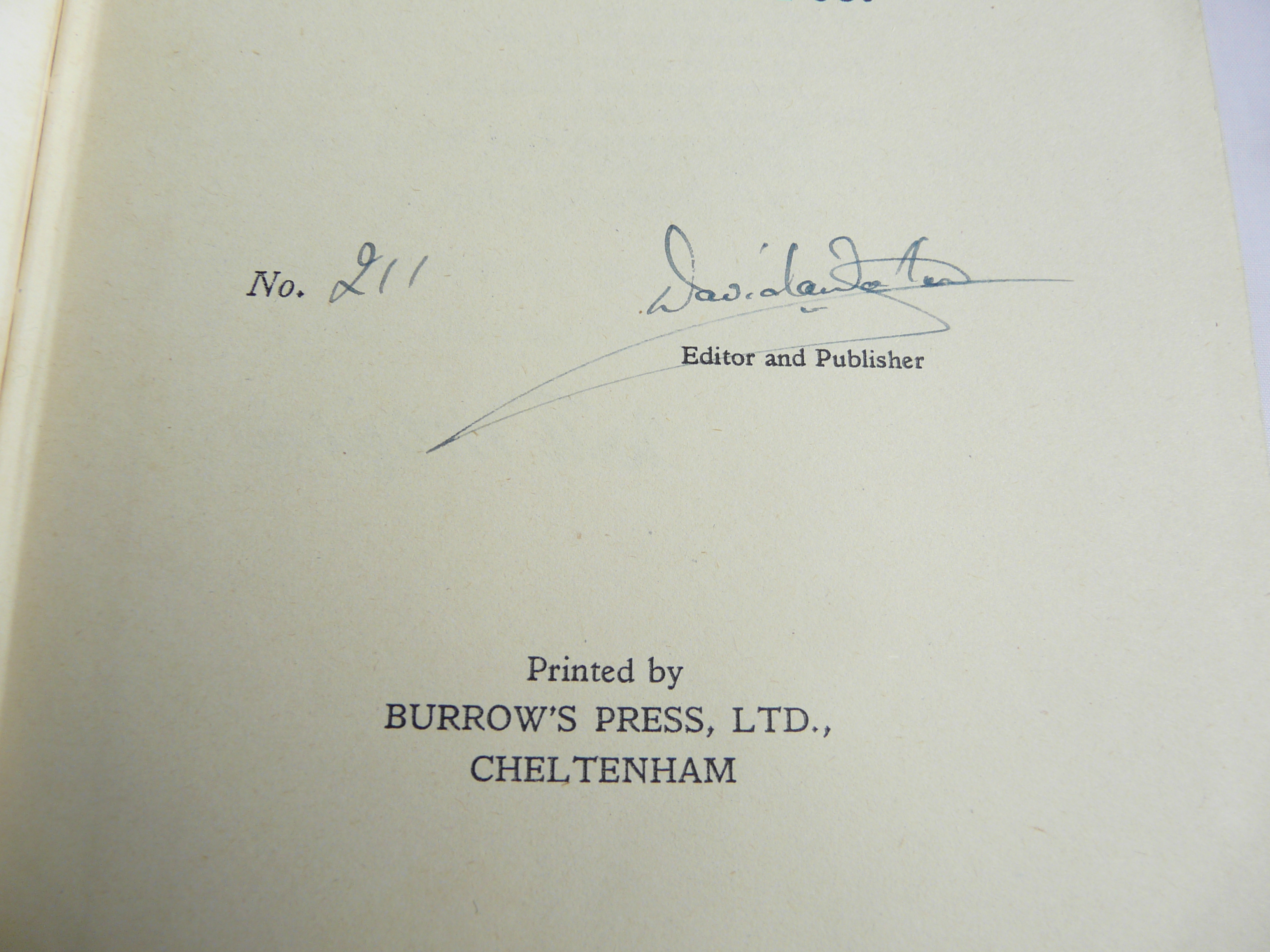 Harehunters All - signed title page