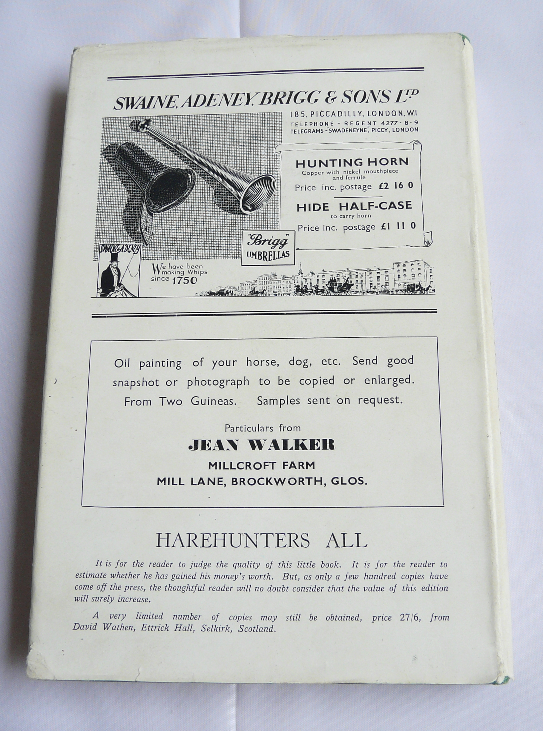 Harehunters All - rear cover