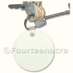 Blank Round Key Ring