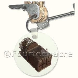 Toy Wheel Trap Key Ring